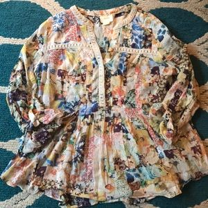💫MAEVE PRINTED FLOWY BLOUSE SIZE 10💫